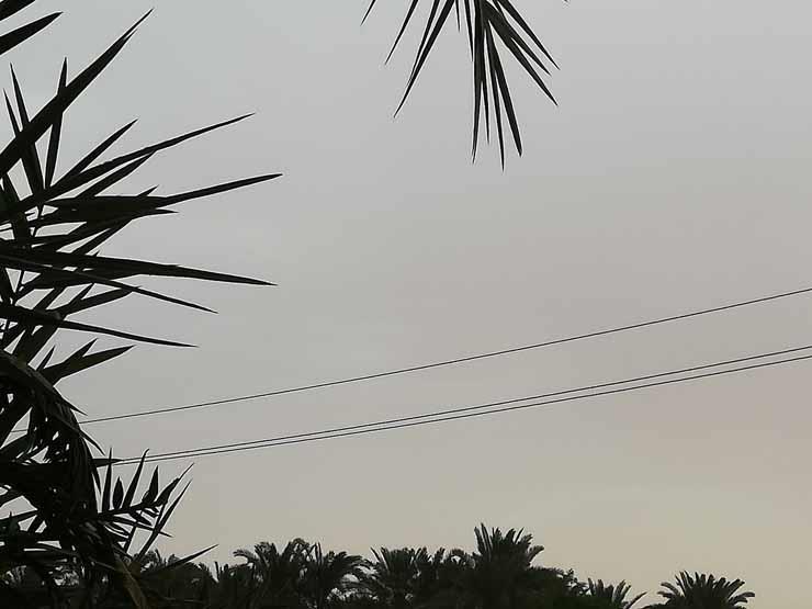 بالصور- غيوم وأمطار رعدية في الوادي الجديد   مصراوى