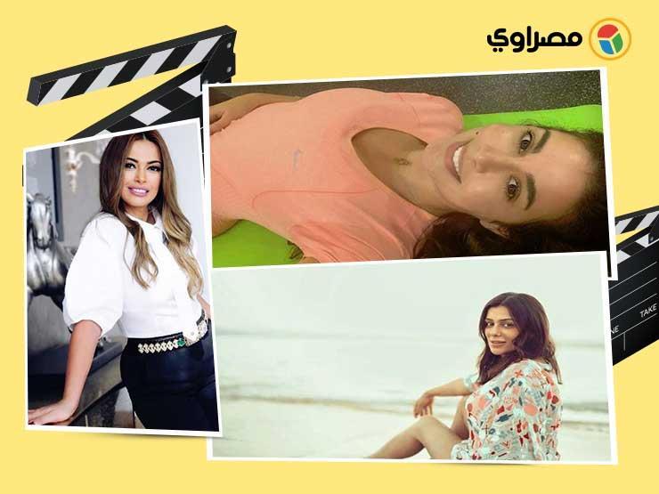 ياسمين صبري بالملابس الرياضية وإنجي المقدم على الشاطئ.. 10 ل   مصراوى
