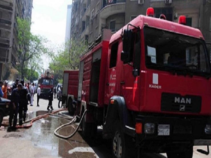 الحماية المدنية تسيطر على حريق داخل فناء معهد أزهري بالأقصر