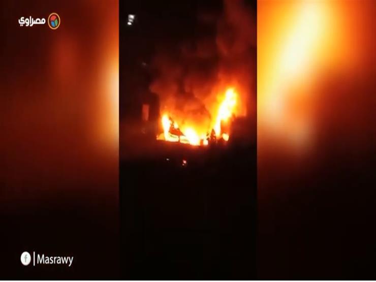 اللقطات الأولى لحريق كنيسة الأنبا بولا بمنشية الصدر