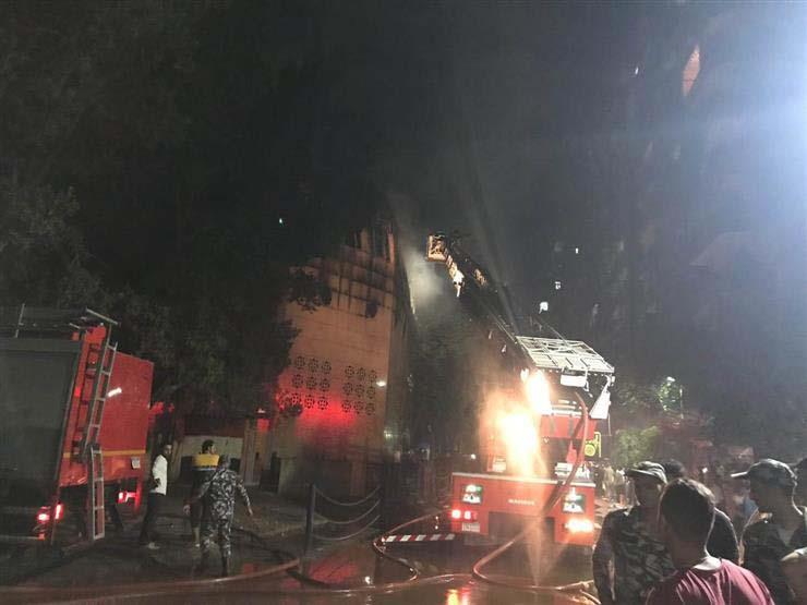 بدء حصر خسائر حريق كنيسة الأنبا بولا.. ومصدر: الدور العلوي الأكثر تضررًا