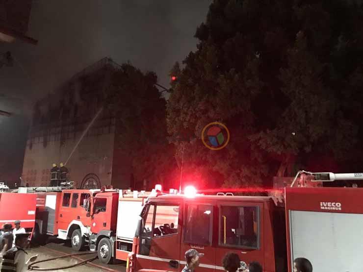 """رئيس دير """"الأنبا بولا"""" يتفقد مقر حدائق القبة بعد حريقه"""