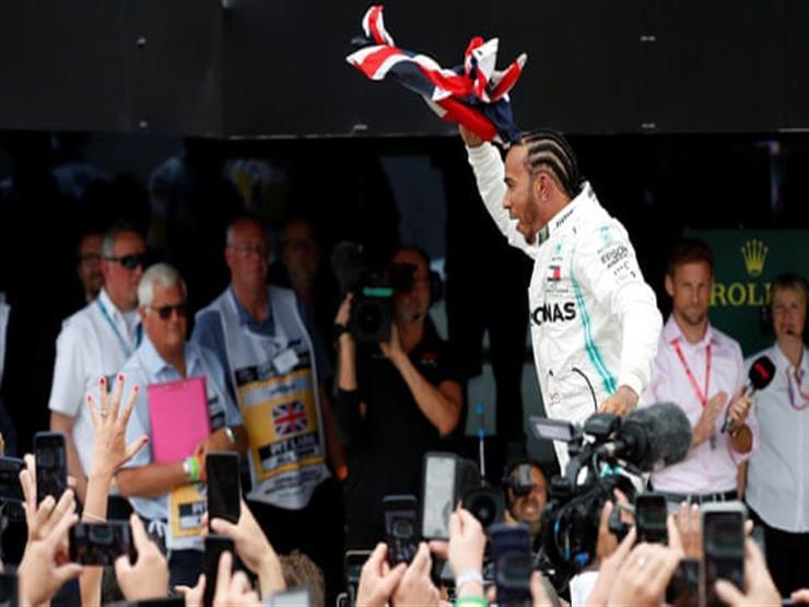 هاميلتون يضيف رقمًا جديدًا إلى سلة أرقامه القياسية بالفوز بسباق فورمولا-1 البريطاني