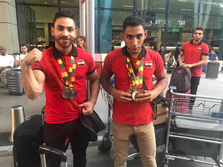وصول بعثتي ناشئي السلة والمصارعة مطار القاهرة بعد المشاركة ببطولة أفريقيا