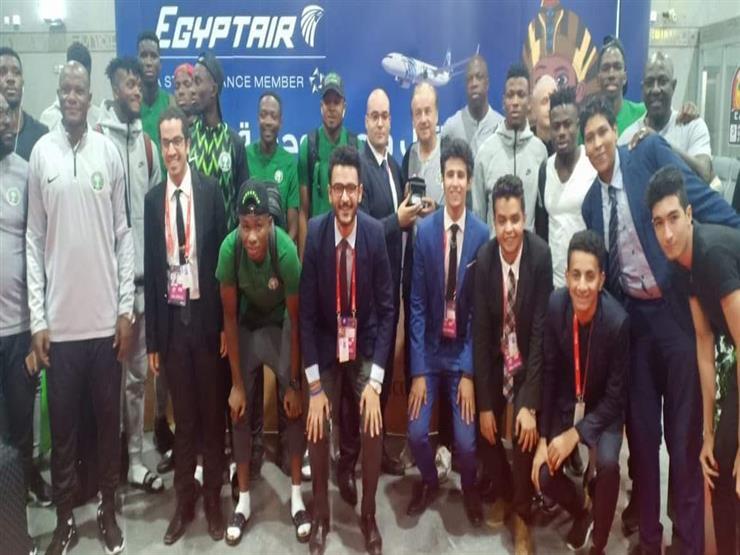 منتخب نيجيريا يغادر القاهرة بعد حصوله على برونزية الأمم الأفريقية