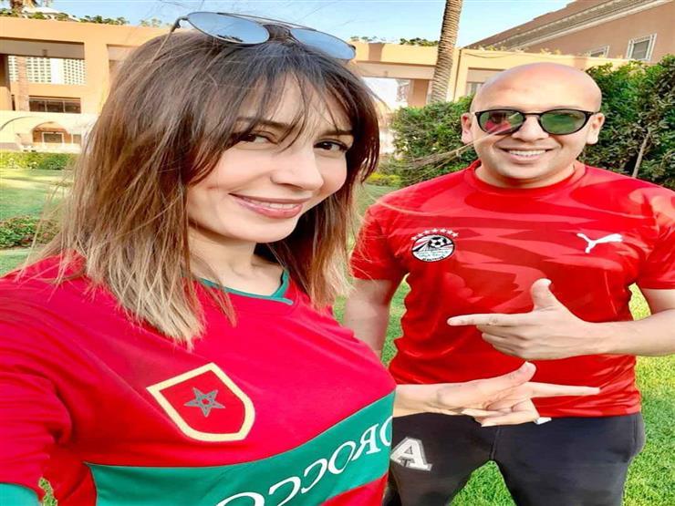 صورة  جنات تهنئ المنتخبين المغربي والمصري