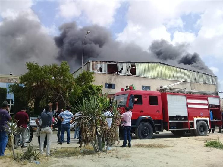 المعاينة: تفاعل كيميائي نتج عنه حريق بمصنع إسفنج في أكتوبر