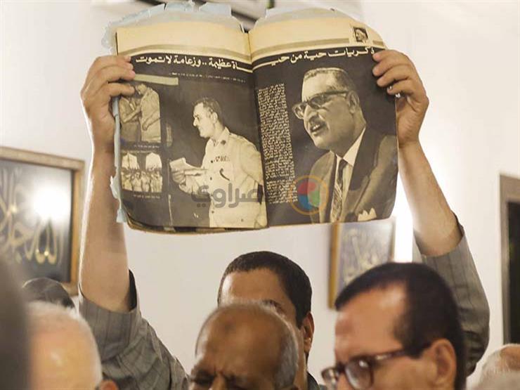 """صور- """"هتافات للزعيم"""".. أنصار عبدالناصر يحتفلون بالذكرى 67 لثورة يوليو"""