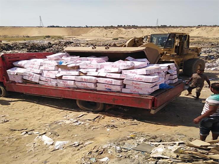 إعدام 95 كيلو جرام لحوم وأغذية فاسدة في بني سويف