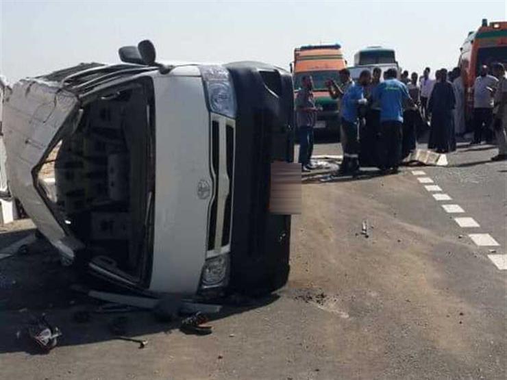 مصرع شخصين وإصابة 12 آخرين في حادث تصادم بالدقهلية