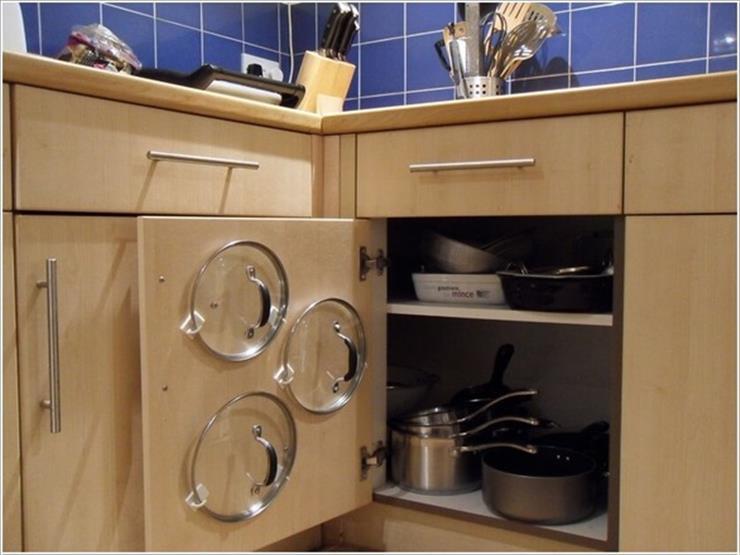 10 أفكار لتخزين أغطية الأواني في المطبخ