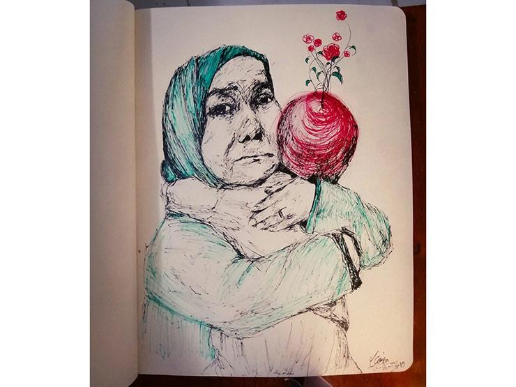 قصة مزاد مفتوح على بورتريه للسيدة الأشهر في حادث انفجار الأورام
