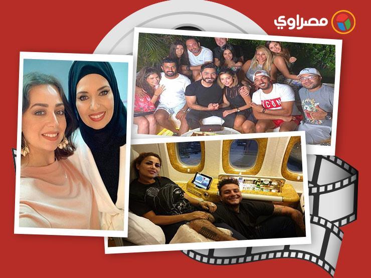 """النشرة الفنية: ظهور نادر لجيهان نصر وأولادها.. حالة محمود ياسين الصحية.. وحبس """"الفيشاوي"""" شهرًا"""