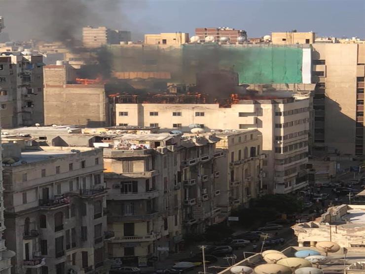 شيشة وتنك سولار .. اندلاع حريق داخل فندق في الإسكندرية - صو   مصراوى