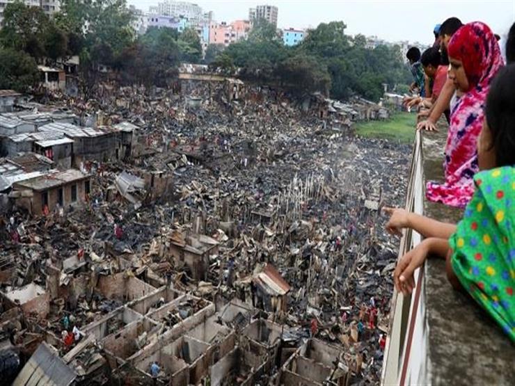 الآلاف بدون مأوى في بنجلاديش اثر حريق في حي عشوائي