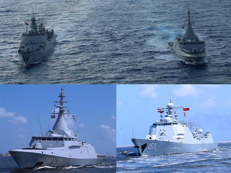 القوات البحرية المصرية والصينية تنفذان تدريبًا عابرًا بالبحر المتوسط