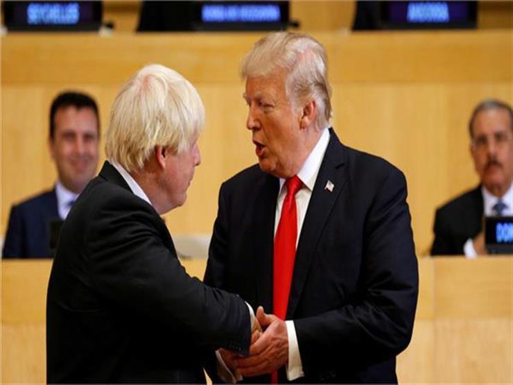"جونسون خلال لقائه مع ترامب: بريطانيا تؤيد ""سلاما تجاريا"""