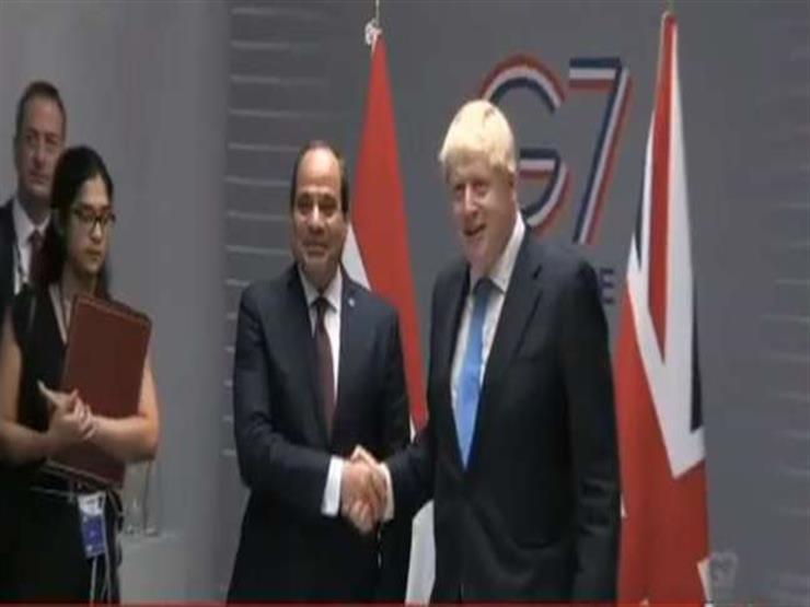 الرئيس السيسي يلتقي رئيس وزراء بريطانيا على هامش قمة السبع