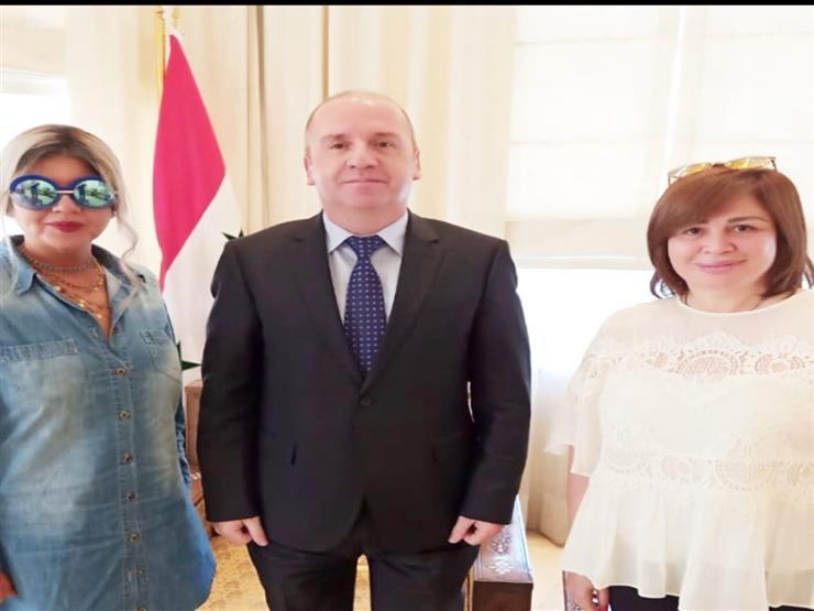 بالفيديو| إلهام شاهين وصفية العمري في افتتاح معرض دمشق الدولي
