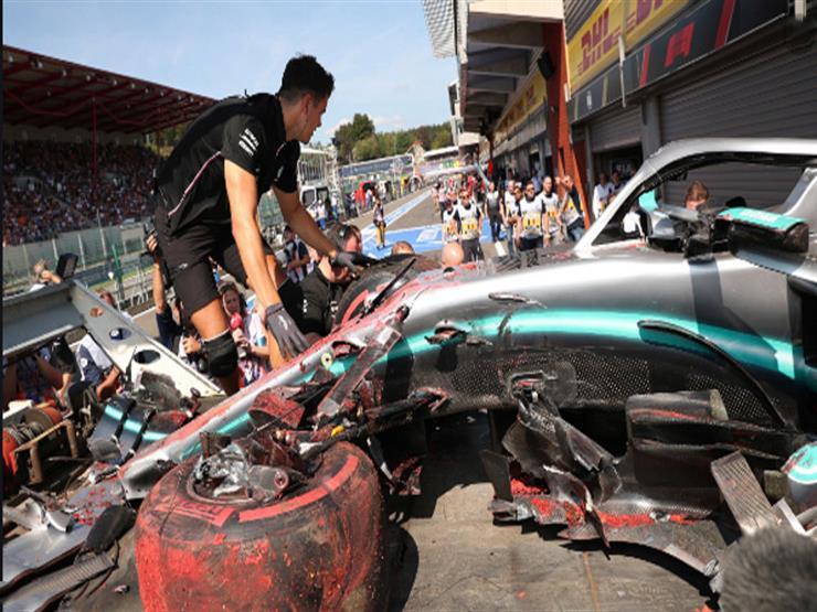 هاميلتون يتعرض لحادث في التجربة الحرة الأخيرة لسباق فورمولا-1 البلجيكي