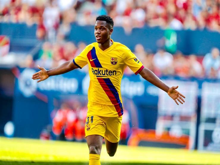 موهبة برشلونة يحطم رقم ميسي