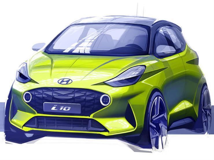 """""""هيونداي"""" تكشف عن التصميم الجديد لـ i10  المتوقع ظهورها بفرانكفورت"""