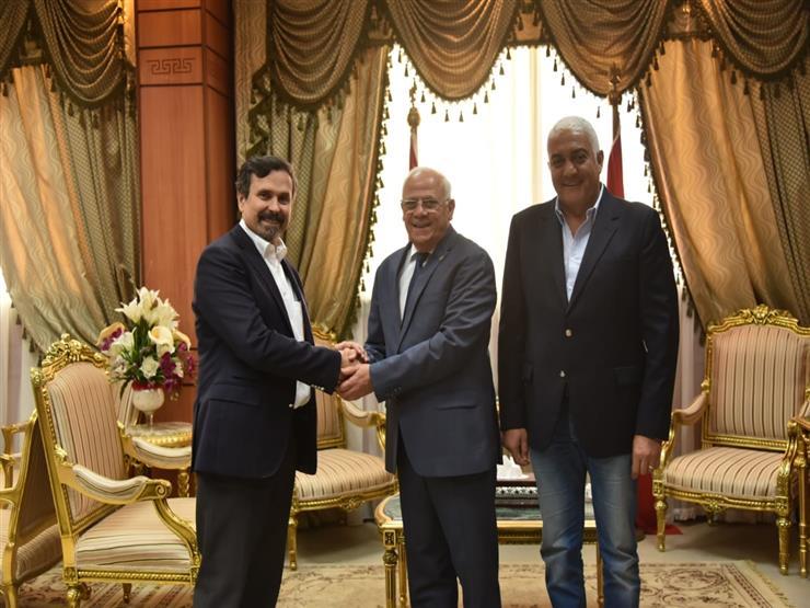 """محافظ بورسعيد يستقبل المدير التنفيذي لشركة """"إيني الايطالية"""""""