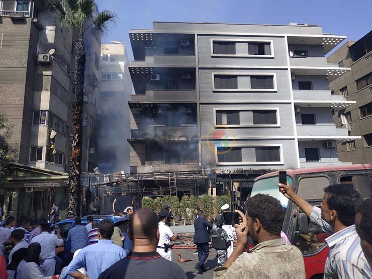 اللقطات الأولى لحريق فندق شهير بالمهندسين- (فيديو وصور)   مصراوى