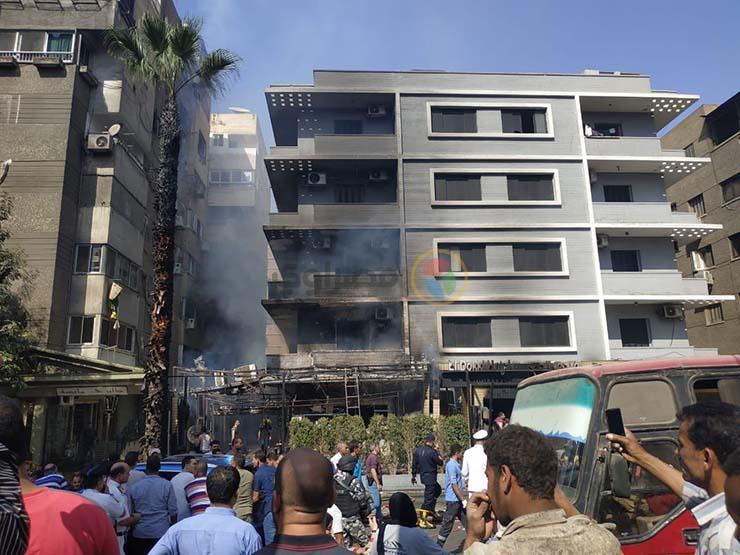 حريق هائل بفندق شهير بالمهندسين