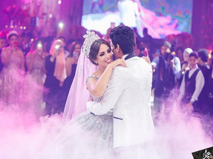 """في عيد زفافهما.. رسالة رومانسية من إسراء عبدالفتاح لـ""""حمدي الميرغني"""""""
