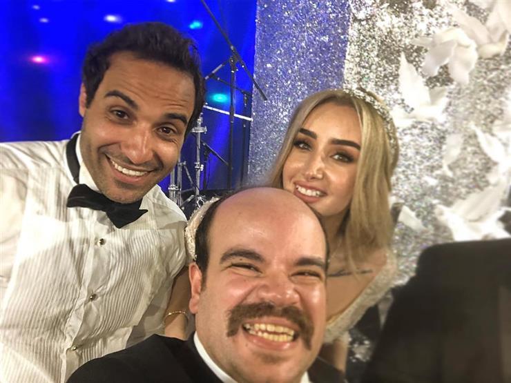 """محمد عبدالرحمن من حفل زفاف فهمي وهنا: """"فرحة عيلة الشحات"""""""