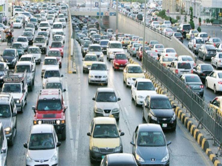 النشرة المرورية.. كثافات مرتفعة بمعظم محاور القاهرة والجيزة