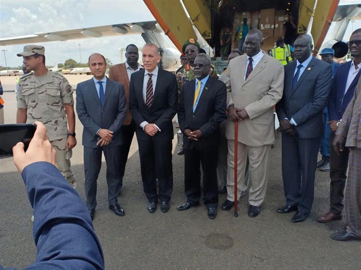 في إطار جهودها لدعم تنفيذ اتفاق السلام.. مصر تُقدم شحنات مُساعدات لجنوب السودان