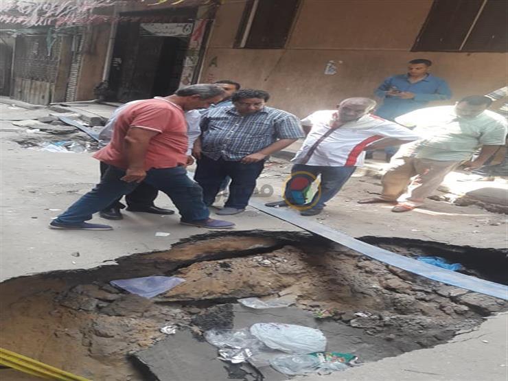 هبوط أرضي في منطقتين تابعتين لحي المنتزه بالإسكندرية