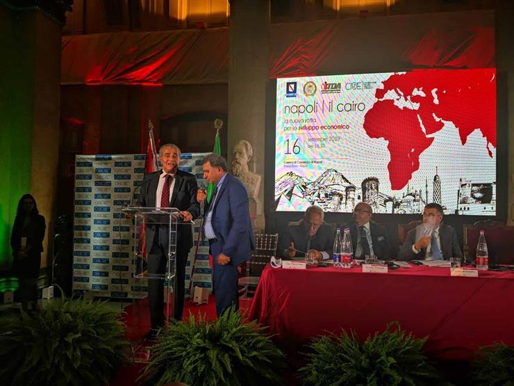 """وزير التموين يفتتح معرض """"القاهرة– نابولي"""" بحضور 300 شركة إيطالية"""