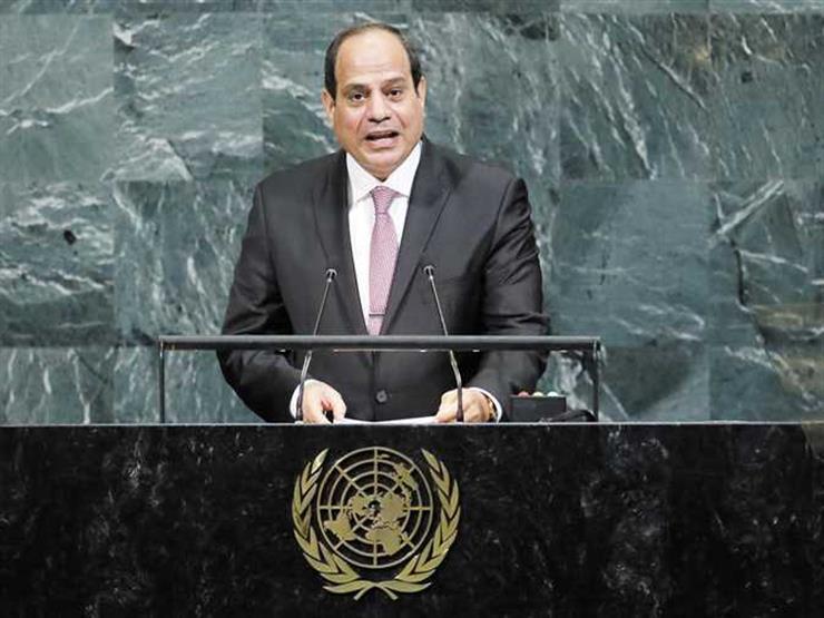 الرئيس السيسي يلقي بيان مصر أمام الجلسة العامة للأمم المتحدة