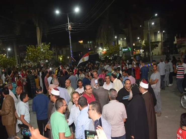 مظاهرات مؤيدة للرئيس السيسي ومسيرة التنمية في بني سويف