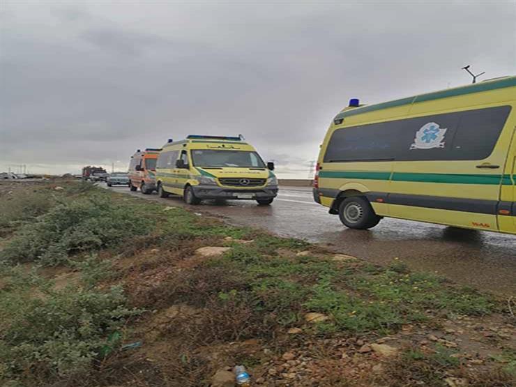 بالأسماء.. إصابة 7 أشخاص في حادث تصادم بالبحيرة