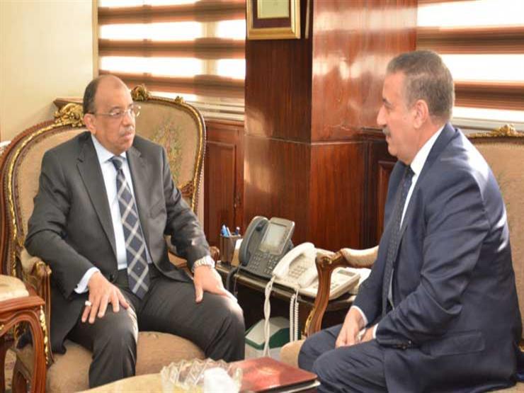"""""""شعراوي"""" يتابع مع محافظ المنوفية المشروعات الجارية بالمحافظة"""
