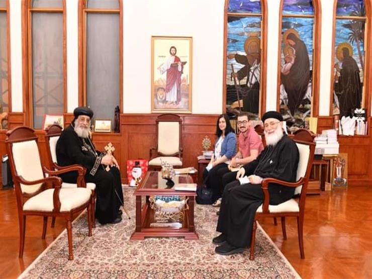 البابا تواضروس يستقبل كاهن الكنيسة القبطية في قطر