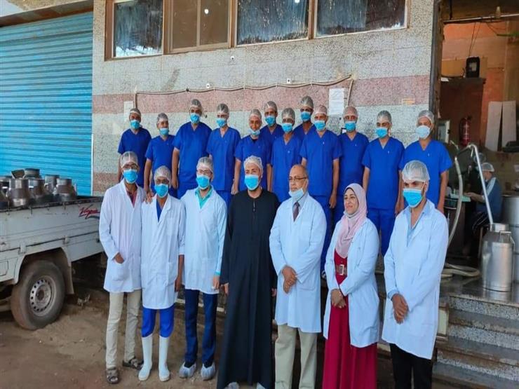 الطب البيطري بالمنوفية: تطوير مراكز الألبان على مستوى المحافظة