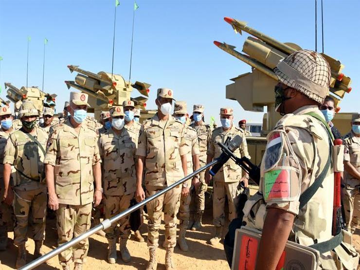 رئيس الأركان يشهد المرحلة الأولى لإجراءات تفتيش حرب أحد تشكيلات الجيش الثالث الميداني