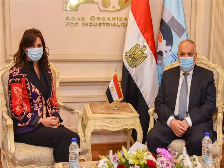 """للتحضير لمؤتمر مصر تستطيع بالصناعة.. رئيس """"العربية للتصنيع"""" يلتقي وزيرة الهجرة"""