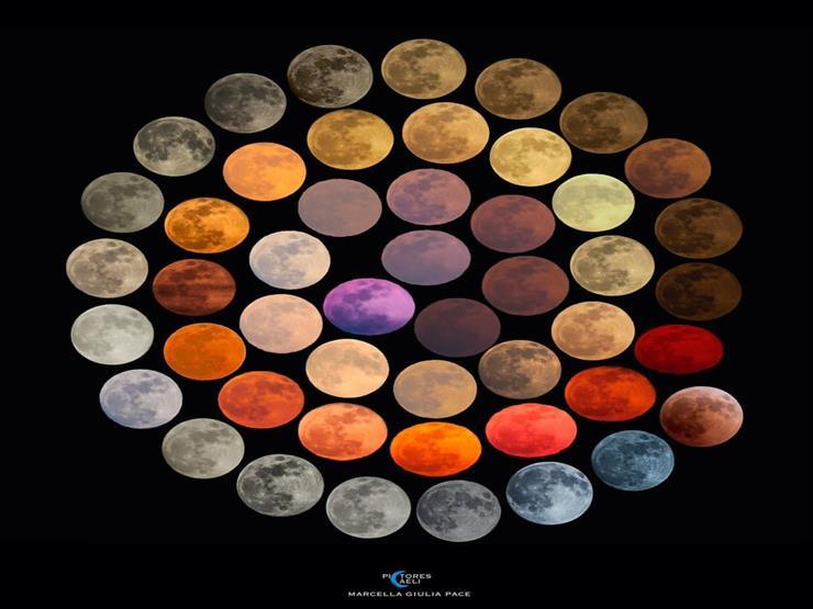 """10 سنوات في لقطة.. قصة صورة نشرتها """"ناسا"""" تجمع 48 لونا للقمر"""