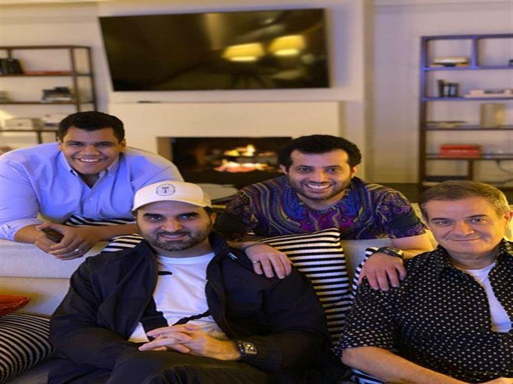 تركي آل الشيخ ينشر صورة مع الملحن نواف عبدالله والمنتج حمادة إسماعيل