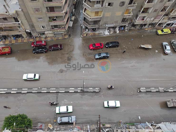 الأمطار تصل القاهرة وتضرب روض الفرج