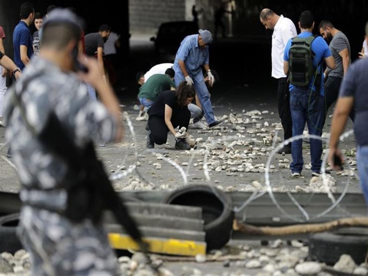 تراشق بالحجارة بين مناصري تيار المستقبل ومحتجين وسط العاصمة اللبنانية