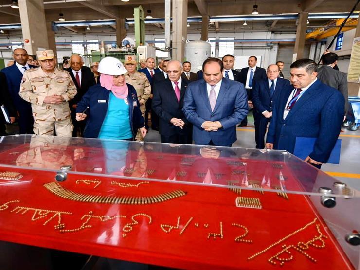 السيسي يفتتح مصنع 300 الحربي.. ويتفقد المدرعة