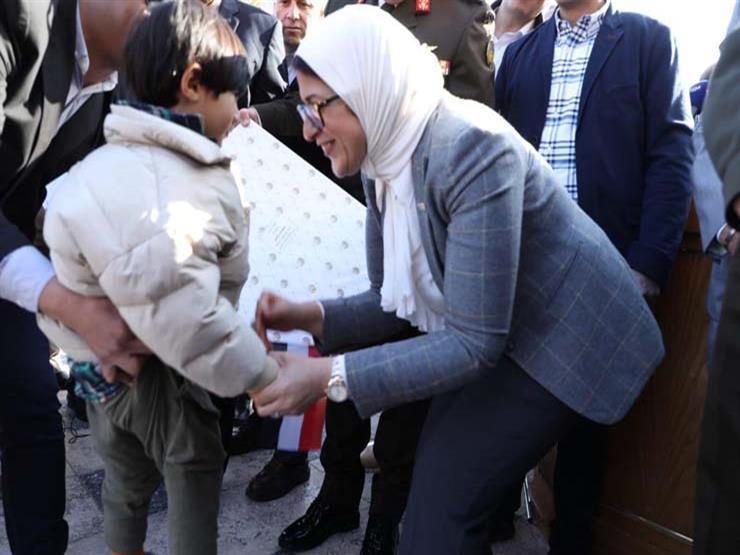 وزيرة الصحة: هدايا الأطفال المصريين العائدين من ووهان مقدمة من القوات المسلحة