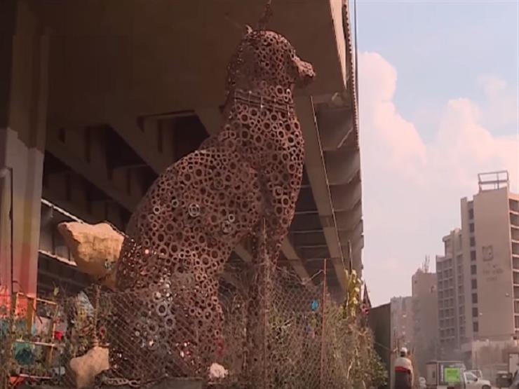 """""""استغرق بناؤه 3 أشهر"""".. تعرف على تفاصيل بناء أكبر تمثال فرعوني من الخردة - فيديو"""